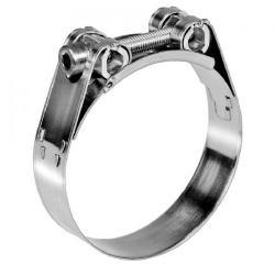 Bride articulée NORMA GBS M - acier inoxydable W4 - largeur 25 mm - plage de serrage 68 à 130 mm - prix de l'unité