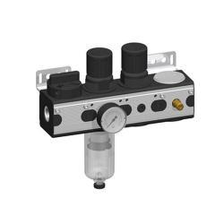 Luftanslutningssats Air Control Pro - 3.500 l / min - 10 bar - 1/4 tum - horisontellt