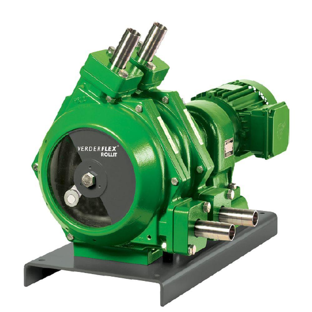 Peristaltisk pump Verderflex Rollit Twin 15 - max. 2 bar - max. 0,55 kW - max. 931 l / h - olika slangar