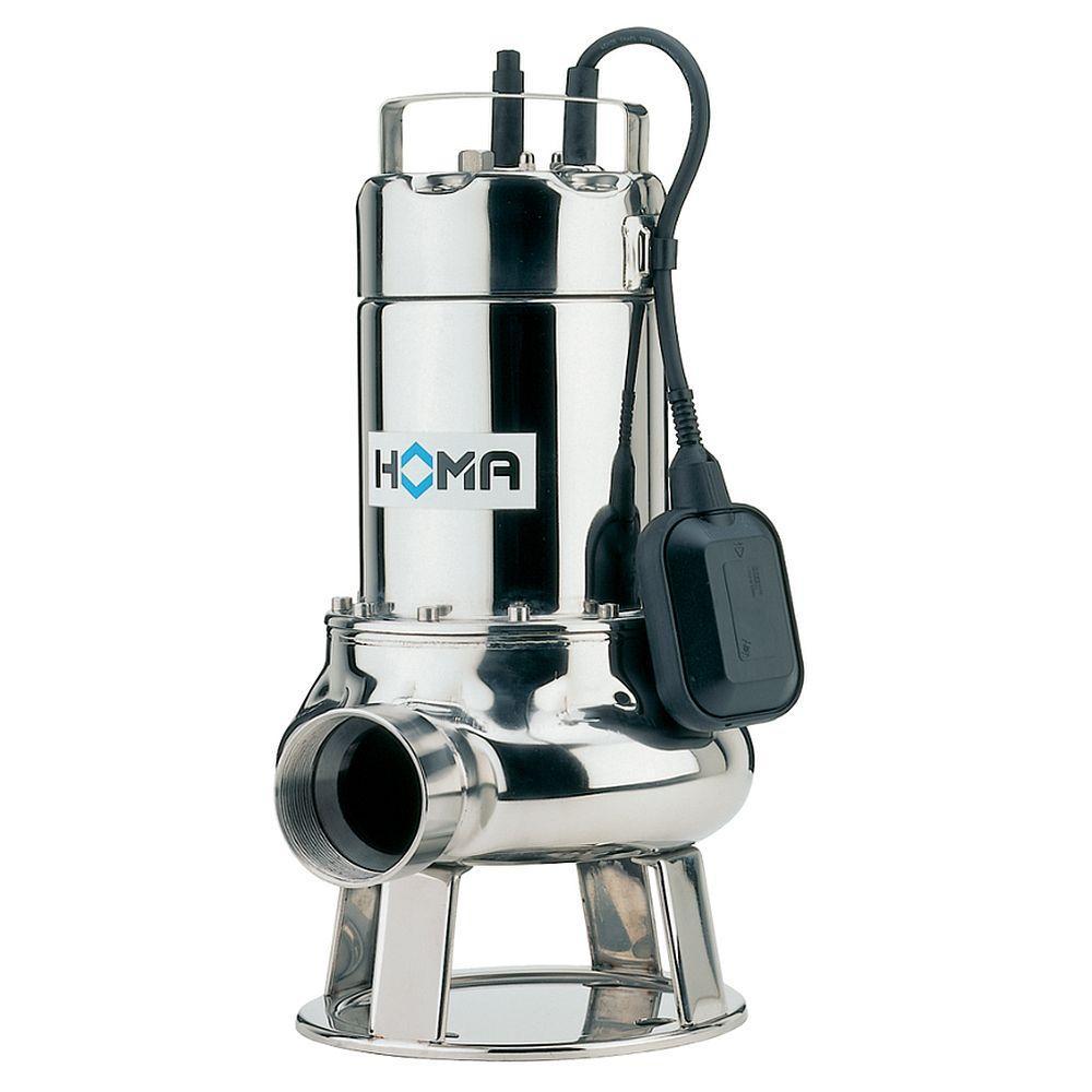 Pompe sommerse in acciaio inossidabile TCV / TCM - max. 1,4 kW - max. 48 m³ / h - altezza di consegna max. 15 m - con / senza interruttore a galleggiante