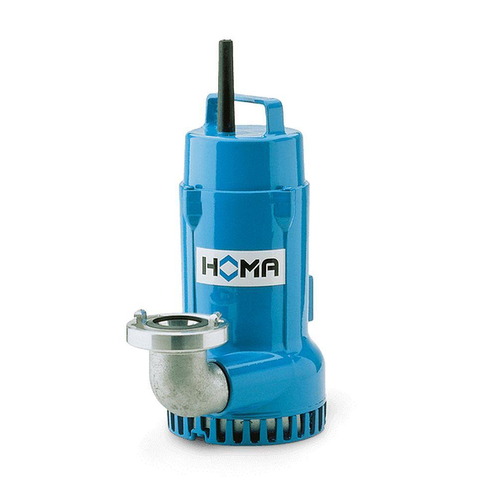 Slitstarka nedsänkbara pumpar H 16 - max. 0,6 kW - max. 22,5 m³ / h - 11 kg - utan / med flottöromkopplare