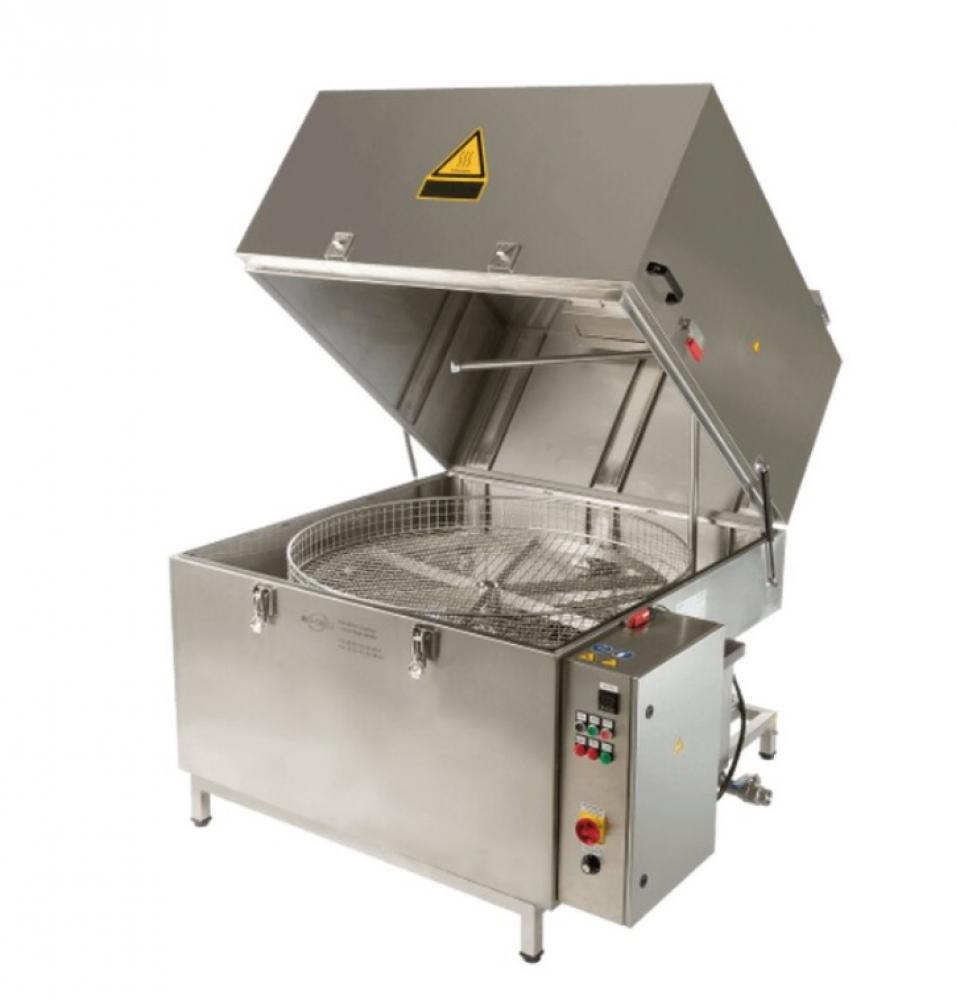 Varmvatten delar tvättmaskin HTW-II - BASIC maskinpaket - roterande korg - 3D högtrycksspray system