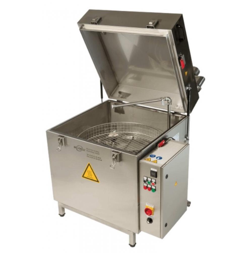 Heißwasser-Teilewaschmaschine HTW-II - Maschinen-Paket BIO - Rotationskorb - 3D-Hochdruck-Spritzsystem