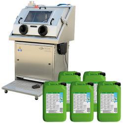 HP Hochdruck-Teilewaschtisch - Start-Up-Paket mit 5 Kanistern á 20 Liter  L EVO Universalreiniger mit Mikroorganismen