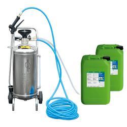 STAINLESS STEEL FOAM SPRAYER V2A - Oppstartspakke inkludert 40 liters CB 100 avfettingsmiddel med Nature Boost teknologi