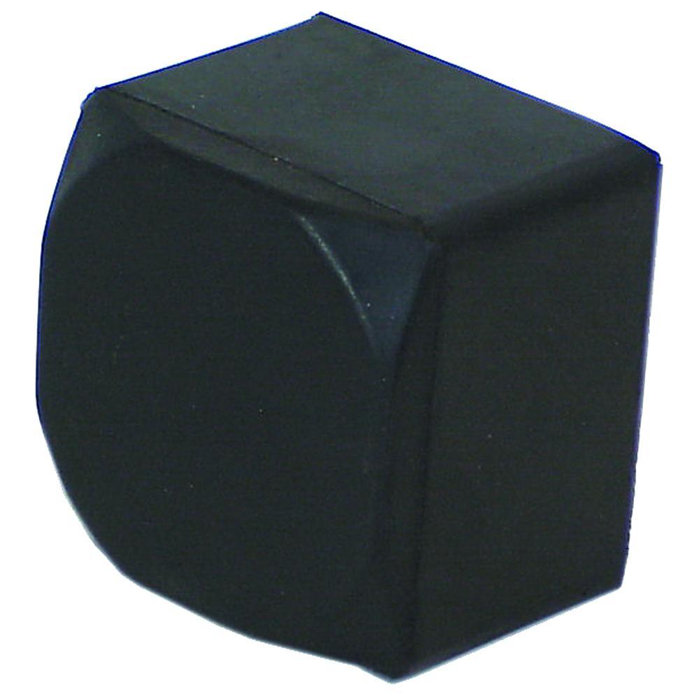 Knytnevefeste - gummi - vekt 1000 g til 2000 g - svart