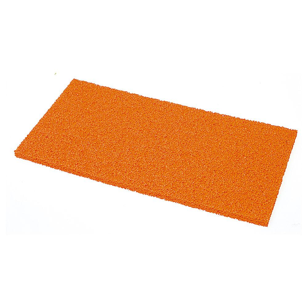 Replacement grater plate - sponge rubber - dimensions 280 x 140 mm - thickness 10 to 20 mm - red