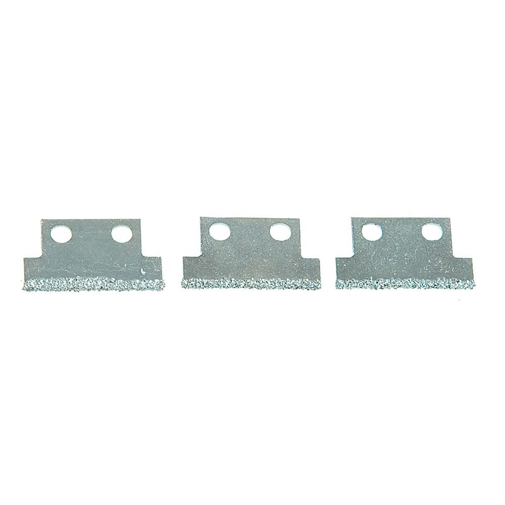 Ersatzklingen für Fugenreiniger - Hartmetall - Länge 27 mm oder 50 mm - 3 Stück