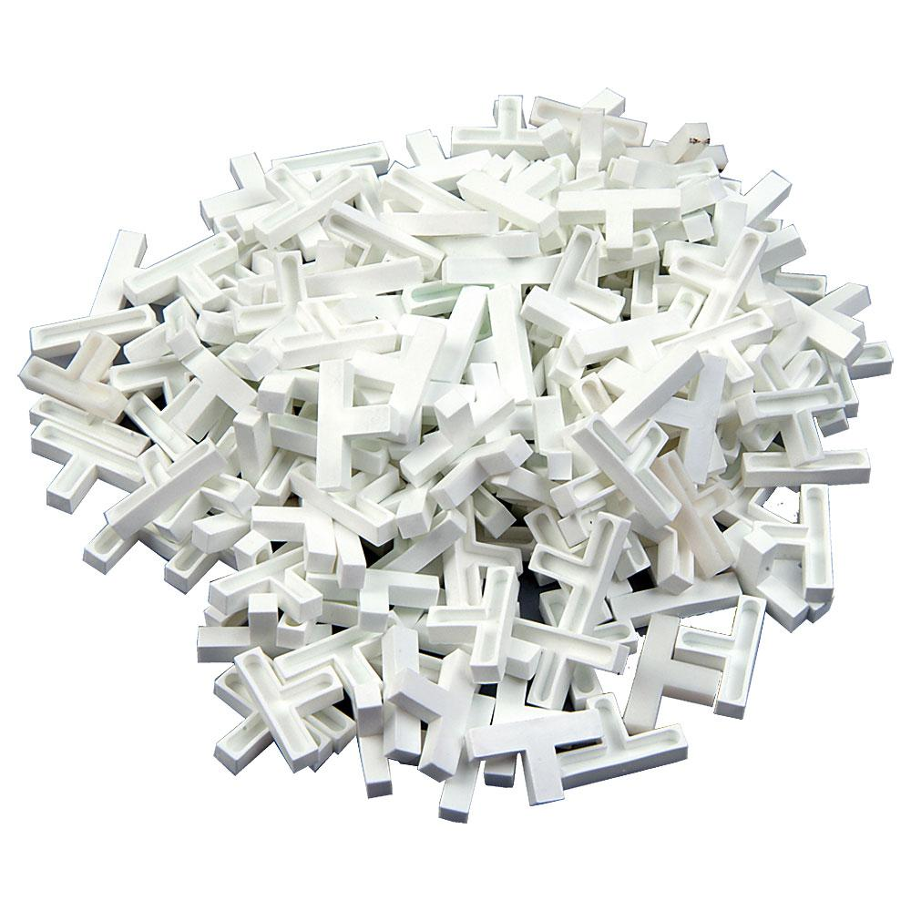 Tile Tees - Plastic - Width 4 to 8 mm - 200 pieces.