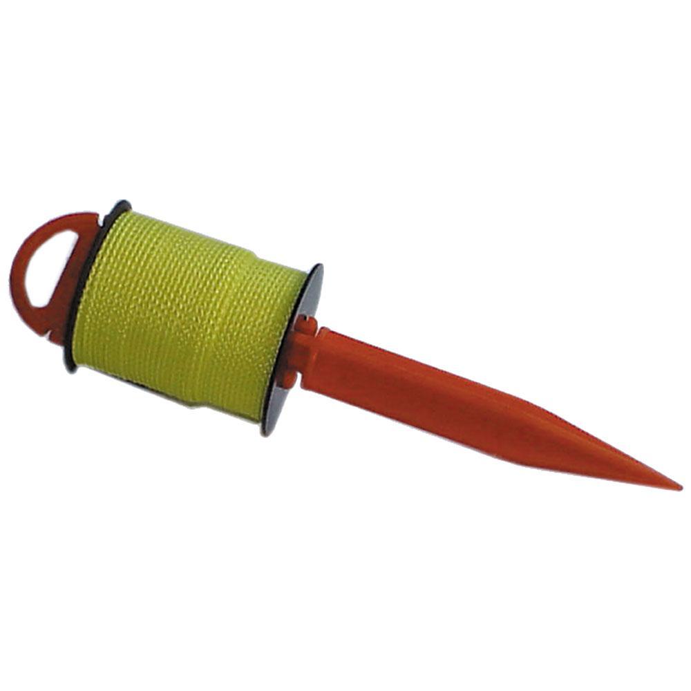 Richtschnur auf Rolle - Durchmesser 2 mm - mit Steckstab erhältlich - Länge 30 m - gelb