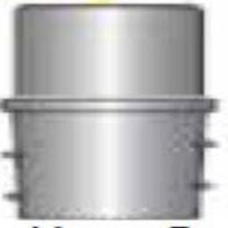 Schlauchkupplung F50 - 50P - Buchse-Ø 50 mm - Schlauch-Ø 50 mm