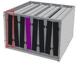 Filtre à charbon actif - 562 x 250 x 50 mm - 2 modèles