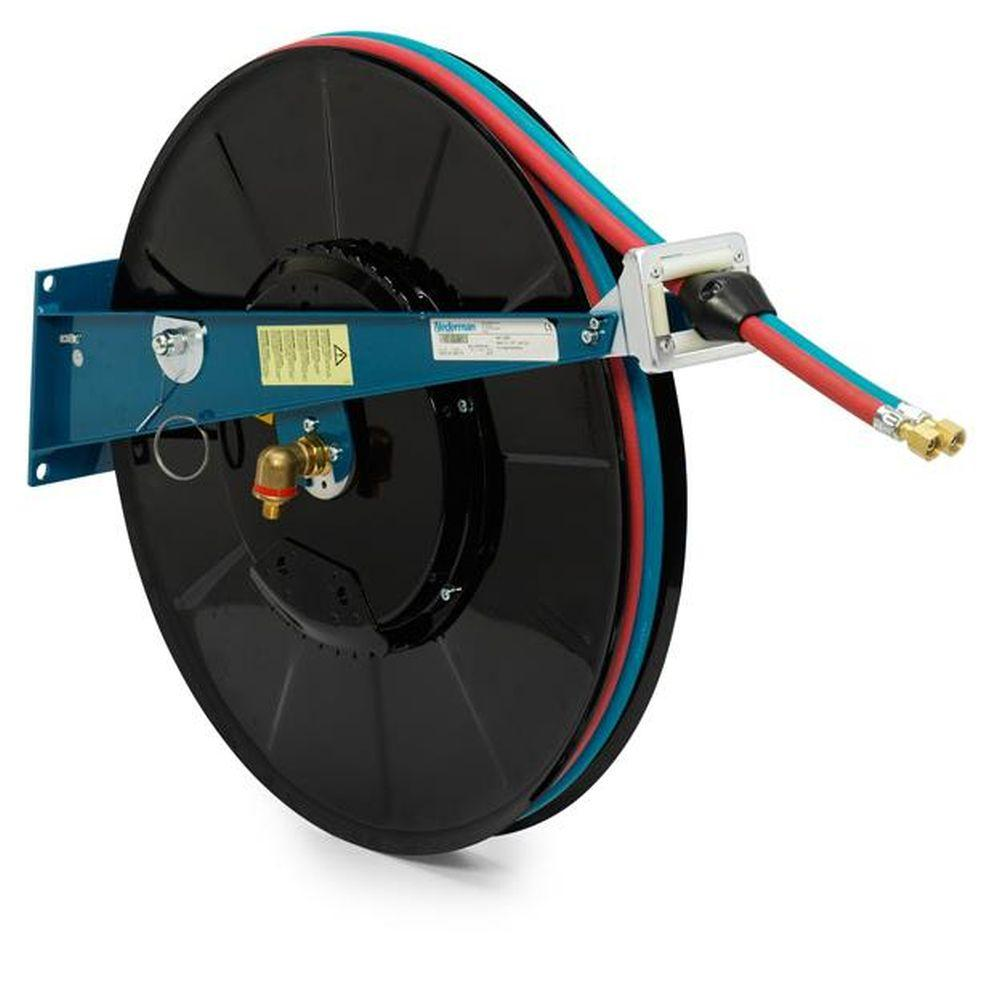 Serie 876 Automatischer Doppel-Schlauchaufroller - Federantrieb - mit Schlauch - für Azetylen/Sauerstoff oder Brenngase/Sauerstoff - verschiedene Ausführungen