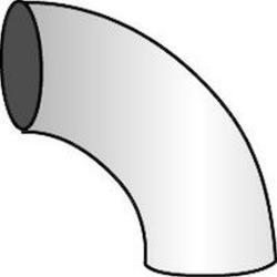 Rohrbogen 90° - Stahl - Ø 75 bis 150 mm