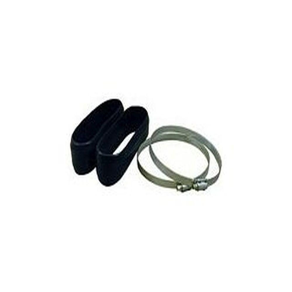 Slangklämma med gummikåpa - Ø 75 till 200 mm - PU 2 delar - Pris per PU