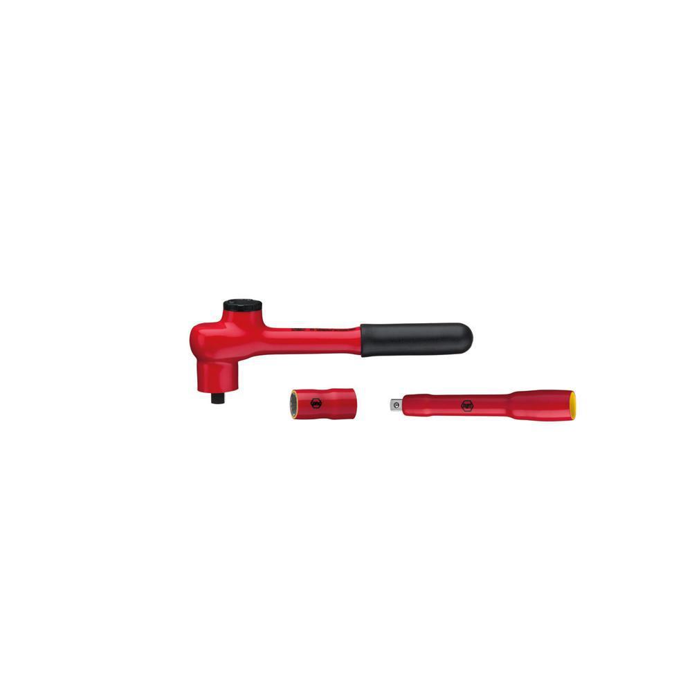 Umschaltknarre - 3/8 Zoll - Länge 80 mm bis 190 mm - isoliert - Serie 7207N