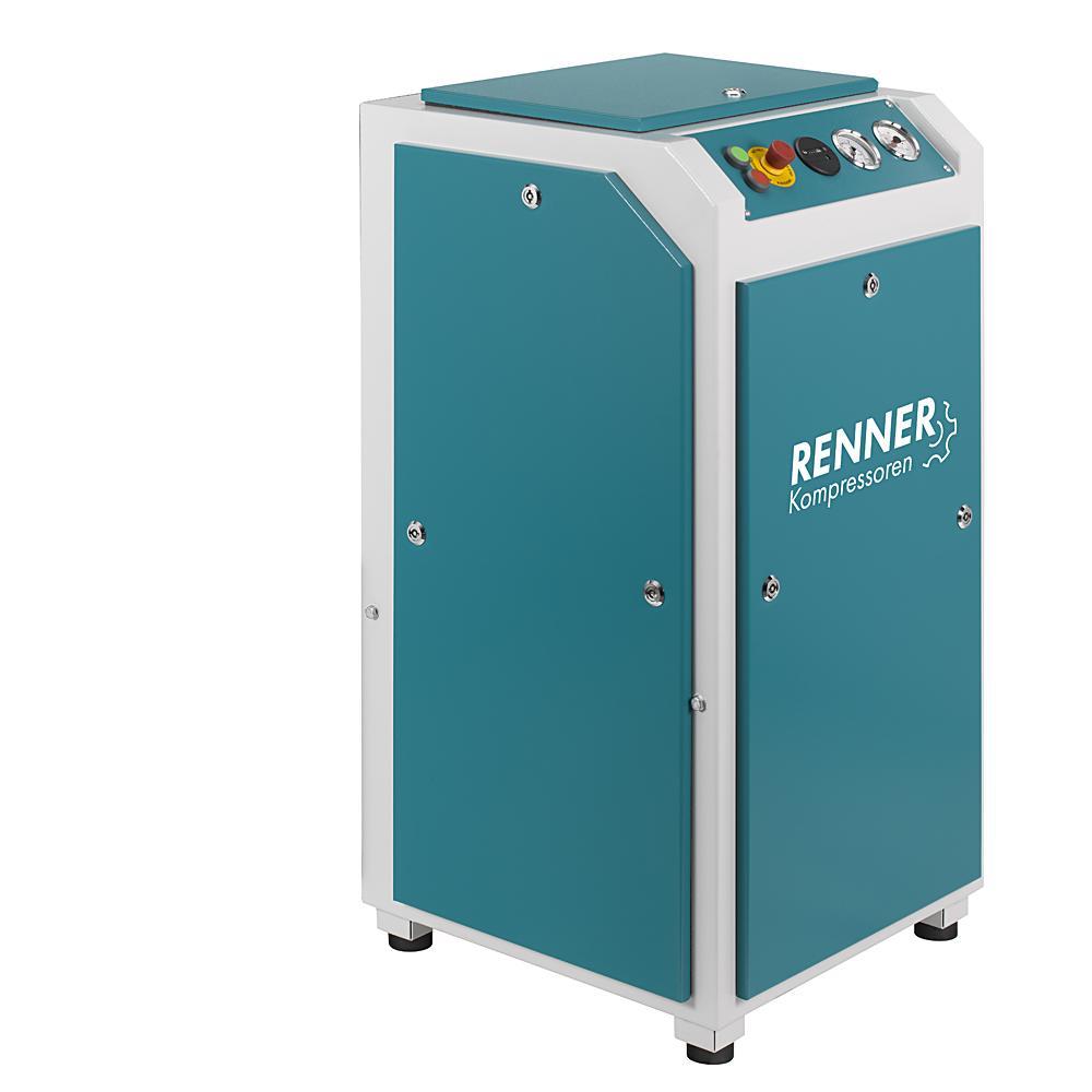RENNER Schraubenkompressor RS und RS-PRO 3,0 bis 75,0 kW - 15 bar - ohne Kältetrockner und Schalldämmbox - verschiedene Ausführungen