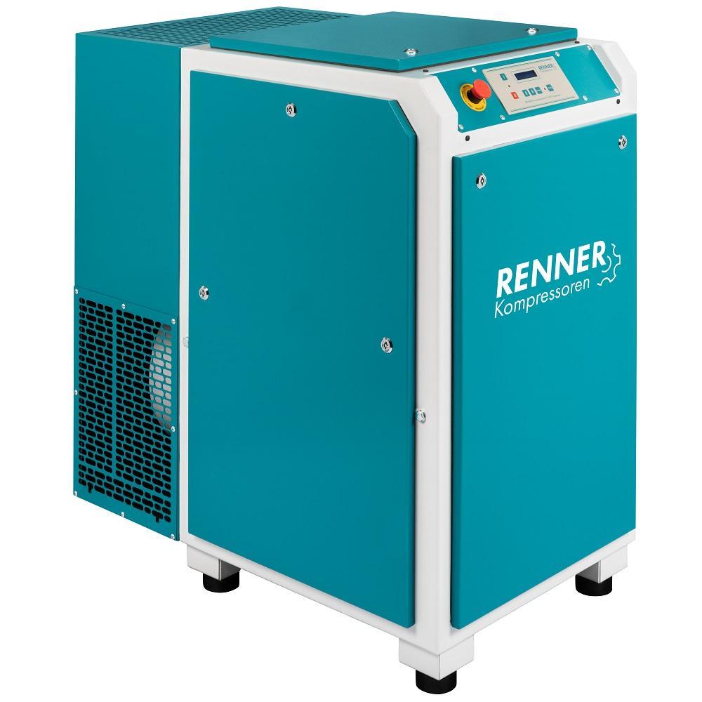 RENNER skruvkompressor RS och RS-PRO 3.0 till 37.0 - 10 bar - BAFA - utan kyltork och ljudisoleringsbox - olika versioner