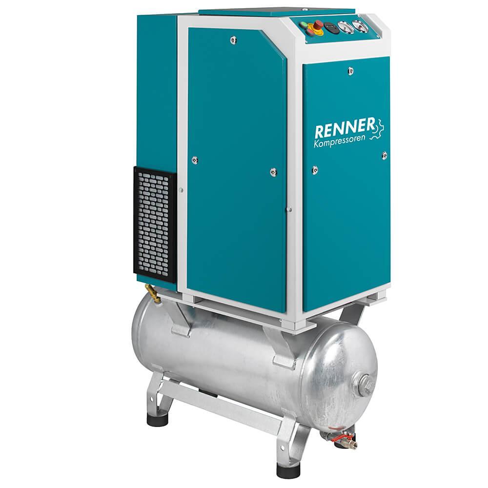 RENNER Schraubenkompressor RSD-PRO 3,0 bis 18,5 kW - 10 bar - verzinkter Druckluftbehälter - verschiedene Ausführungen