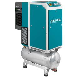 Compresseur à vis RENNER RSDK-PRO - 13 bar - puissance nominale kW 3,0 à 18,5 - réservoir d'air comprimé galvanisé et sécheur frigorifique - différentes versions