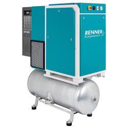 RENNER Schraubenkompressor RSDK-PRO 3,0 bis 18,5 kW - 15 bar- verzinkter Druckluftbehälter und Kältetrockner - verschiedene Ausführungen
