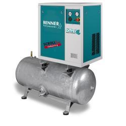 RENNER SCROLL kompressorer SLD-I utan ugntork och SLDK-I med ugntorkare 1,5 till 7,5 KW - galvaniserad tryckluftbehållare - 10 bar - olika utföranden