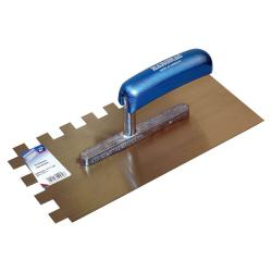 Serrated smoothing trowel - 15 x 15 - width 130 mm - length 280 mm
