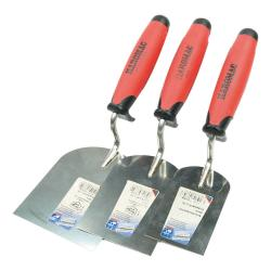 "3-piece cellar set ""plasterer"" - stainless steel - dimensions 25 x 10 x 13 cm - plasterer spatulas - 60, 80 and 100 mm"