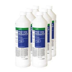 Hårvägsdräneringsfri - flytande rörrensare - 1000 ml plastflaska - 6 flaskor