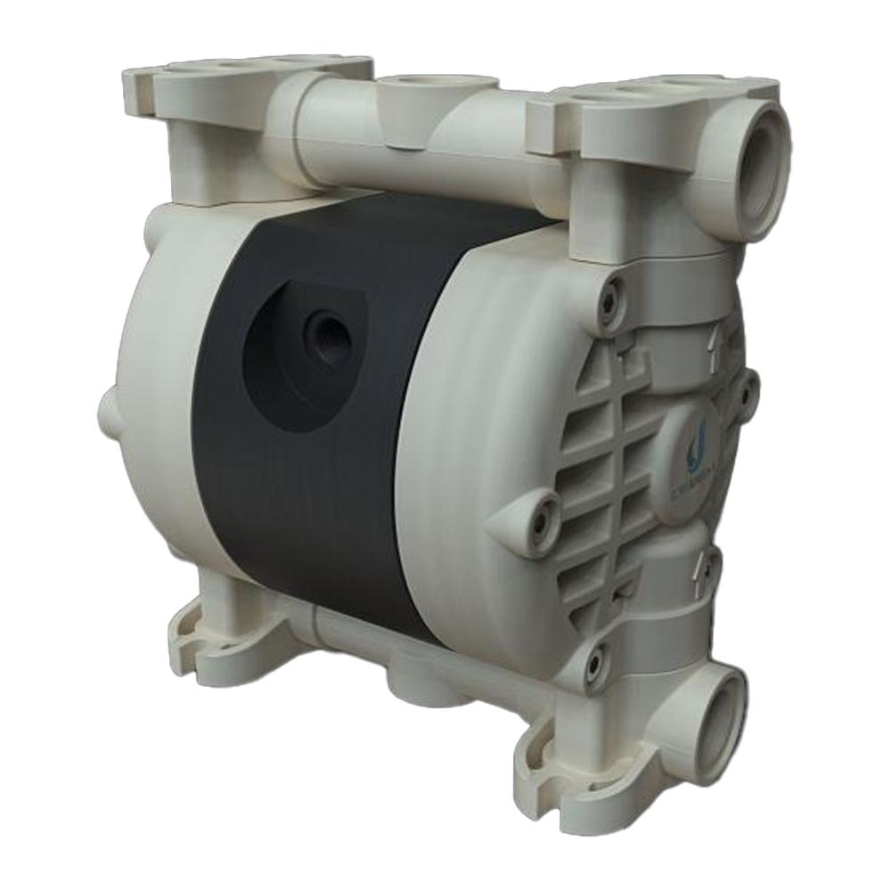 Druckluft-Doppelmembranpumpe Microboxer - NBR - Gehäuse aus Polypropylen - 35 l/min - 8 bar