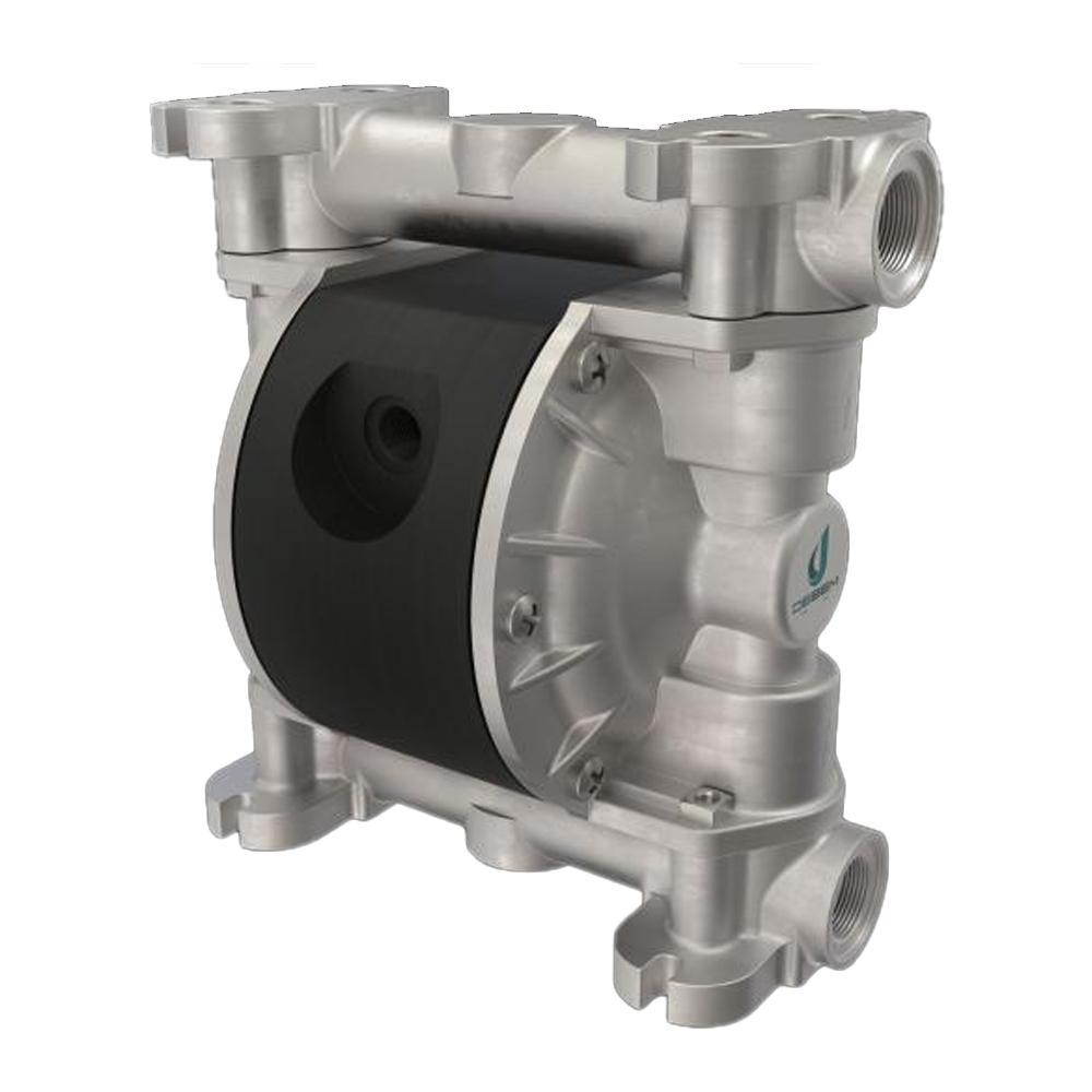 Druckluft-Doppelmembranpumpe Microboxer - NBR - Gehäuse aus Aluminium - 35 l/min - 8 bar