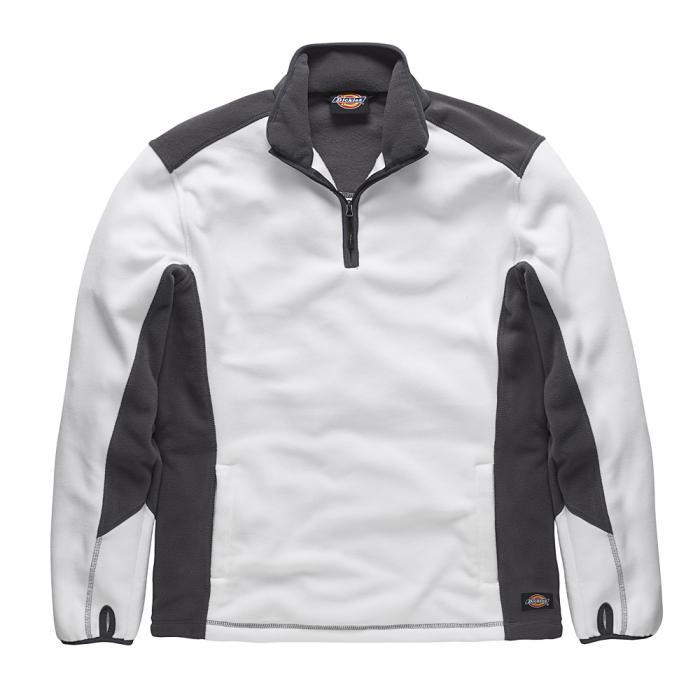 Fleecepullover zweifarbig - Dickies - Größe S bis XXXL - weiß/grau