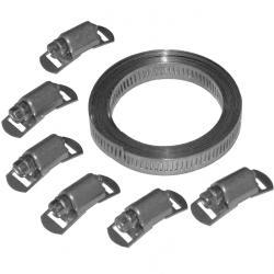 Schneckengewinde-Schlauchschelle - 9 mm breit - Spannbereich 50 mm bis 110 mm  - Aluzink - VE 20 Stk - Preis per VE
