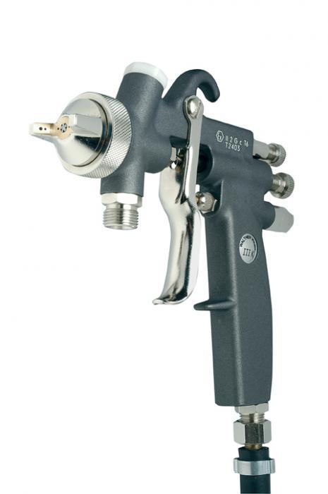 Sprutpistol Walther Pilot III-K - materialanslutning