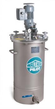 Materialdruckbehälter 60 Liter - 3 - Ausgang oben - Edelstahl