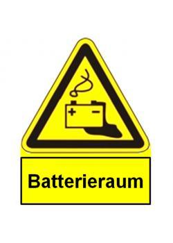 """Warnschild für Photovoltaik-Anlagen - """"Batterieraum"""""""