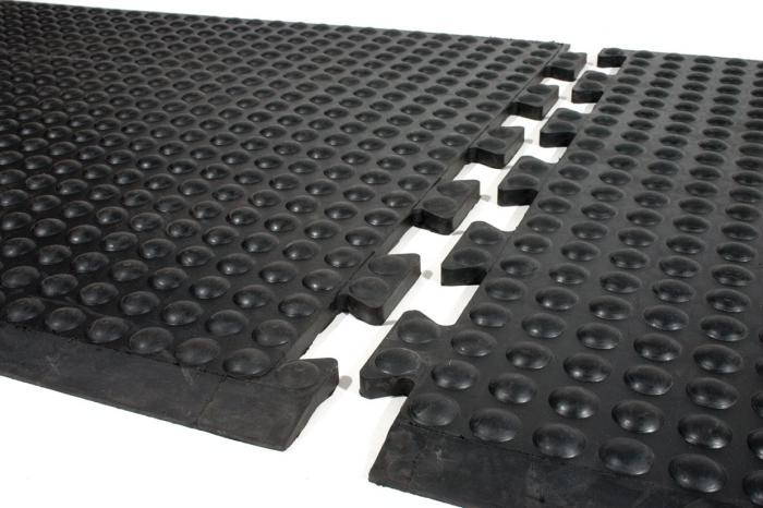 Arbetsplatsmatta Bubblemat - naturgummi - 14 mm