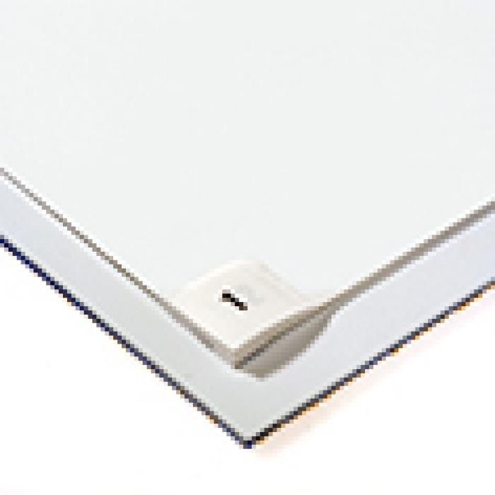 """Reinraum-Matte """"Clean-Step"""" - weiß - Stärke 6,5 mm - PVC-Unterlage - Inhalt 60 Folien"""