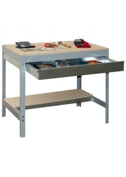 Workbench BT-3 BOX - höjd 840 x djup 600 mm - Kapacitet 600 kg - med låda