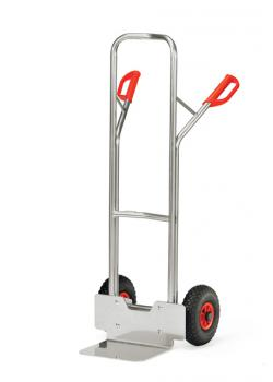 Alu hand truck - to 200 kg - height 1300 mm - solid rubber / pneumatic tires