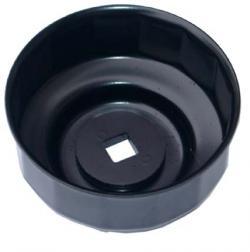 Ölfilterkappe aus Stahlblech - schwarz 65 mm x 14 -kant