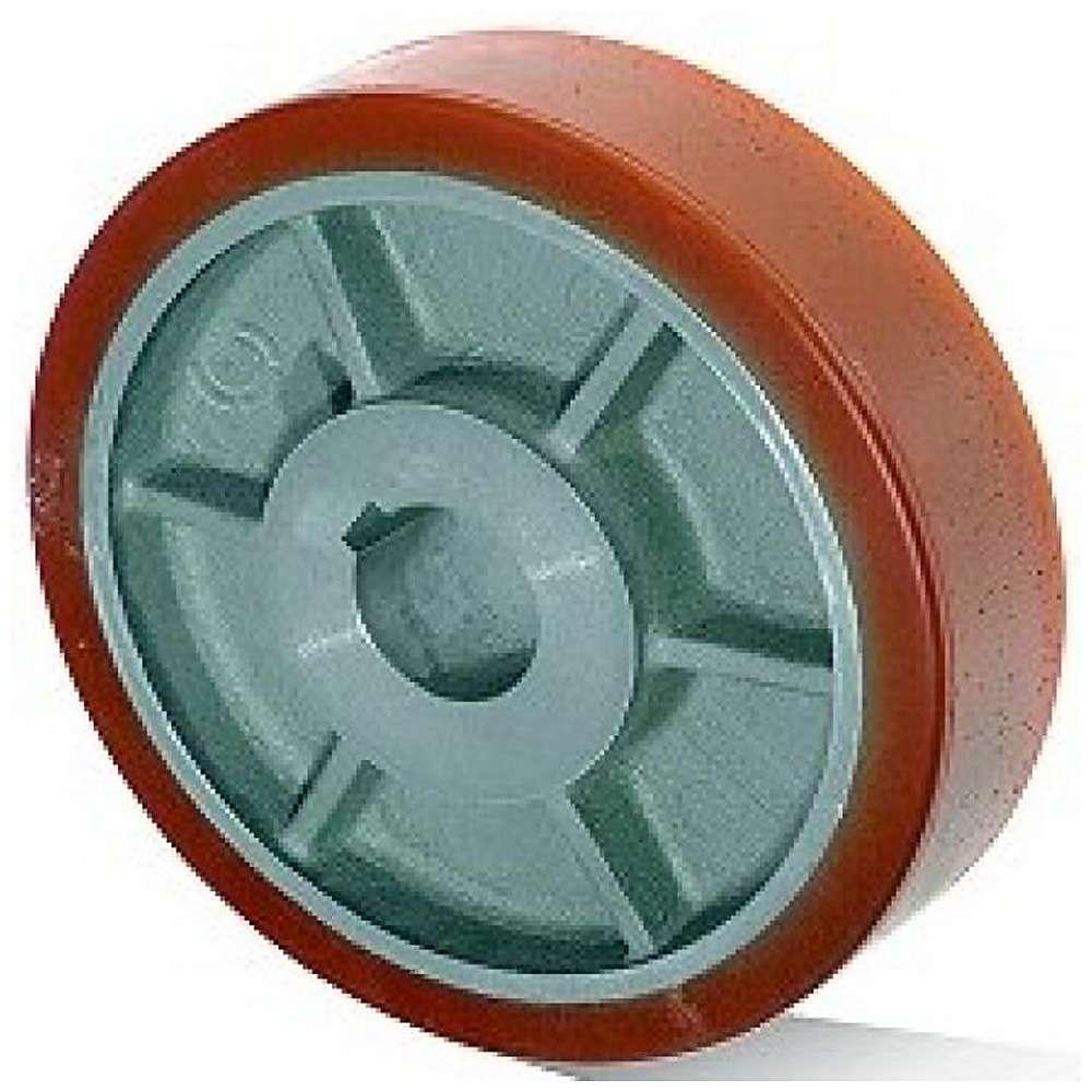 Vulkollanrad - Grauguss- oder Stahlfelge - Rad-Ø 100 bis 300 mm - Tragkraft 450 bis 1700 kg