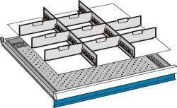 Set pareti divisorie per armadi a cassetti LxP 717 x 725 mm
