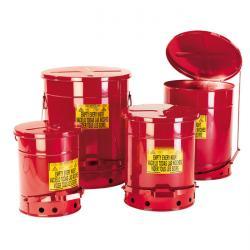 Entsorgungsbehälter - Stahlblech - mit Deckel und Fußpedal - 34 bis 80 Liter