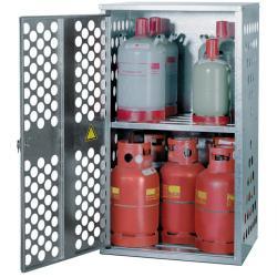 Armadio per bombole gas liquido - diverse capacità di stoccaggio 4x33kg, 10x11kg