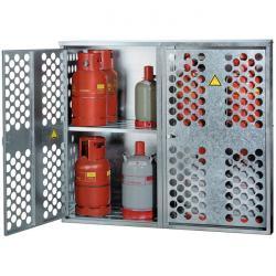 Armadio per bombole gas liquido - diverse capacità di stoccaggio 9x33kg, 20x11kg
