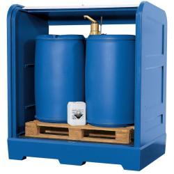 per sostanze pericolose - Capacità carter 225 l - max. 2 fusti da 200 litri.
