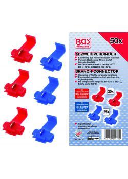 Abzweigverbinder-Satz - Klemmung aus hochleitfähigem Material - 50-tlg.