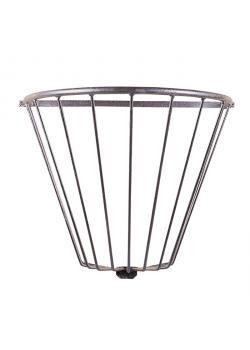 Hay rack - bar thickness 10 mm - width 43 cm - length 80 cm - height 67 cm - half round - galvanized