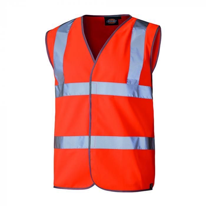 Gilet di sicurezza - Dickies - con chiusura in velcro - altamente visibile - varie misure - arancione